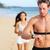 アスレチック · 若い男 · を実行して · ビーチ · カーディオ · トレーニング - ストックフォト © maridav