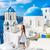 avrupa · yaz · tatili · kız · yürüyüş · santorini · adası · seyahat - stok fotoğraf © Maridav