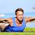 fitness man training back extension exercise stock photo © maridav