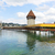 capela · ponte · água · torre · rio · cidade - foto stock © maridav