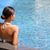 Luxury wellness spa retreat woman relaxing in pool stock photo © Maridav