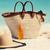 seis · óculos · de · sol · protetor · solar · loção · praia - foto stock © maridav