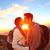 kiss · para · całując · romantyczny · turystyka · wygaśnięcia - zdjęcia stock © maridav