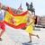 spanish flag   people showing spain flag in madrid stock photo © maridav