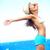 wolności · kobieta · wolna · szczęścia · plaży · uśmiechnięty - zdjęcia stock © maridav