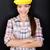 femminile · manuale · lavoratore · blu · legno - foto d'archivio © maridav