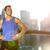 gelukkig · jonge · man · lopen · stad · brug · fitness - stockfoto © maridav