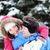 winter · paar · gelukkig · op · de · rug · sneeuw · glimlachend - stockfoto © maridav