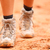 hiking shoes   closeup of dirty hiker boots stock photo © maridav