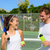 tennis sport   couple relaxing after playing game stock photo © maridav