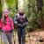 wandelaar · paar · backpackers · wandelen · bos · pad - stockfoto © maridav