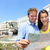 tourists couple with map in madrid spain stock photo © maridav