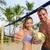 feliz · casal · jogar · voleibol · verão · praia - foto stock © maridav