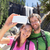couple hiking taking smartphone selfie in yosemite stock photo © maridav
