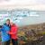 paar · IJsland · zelfportret · foto · gletsjer - stockfoto © maridav