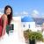 santorini · adası · Asya · kadın · yaz · seyahat · turist - stok fotoğraf © maridav