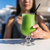 healthy lifestyle woman drinking cafe green juice stock photo © maridav