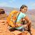 笑顔の女性 · リュックサック · グランドキャニオン · 冒険 · 旅行 · 観光 - ストックフォト © maridav