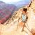 幸せ · 女性 · リュックサック · グランドキャニオン · 冒険 · 旅行 - ストックフォト © maridav
