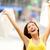 happy shopping woman in excited winning stock photo © maridav