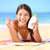 sunscreen woman applying suntan lotion stock photo © maridav