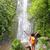 wandelaar · juichen · gelukkig · wandelen · vrouw - stockfoto © maridav