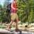 hiking man hiker crossing river in yosemite stock photo © maridav