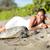 пляж · путешествия · женщину · Гавайи · морем · черепахи - Сток-фото © maridav