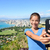 hawaii tourist selfie by honolulu waikiki beach stock photo © maridav