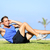 sit ups   fitness man exercising sit up outside stock photo © maridav
