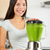 Smoothie woman making vegetable green smoothies stock photo © Maridav