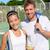 tennis sport   mixed doubles couple players stock photo © maridav