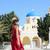szczęśliwy · turystycznych · kobieta · santorini · wyspa · Grecja - zdjęcia stock © maridav