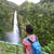 wandelaar · wandelen · naar · waterval · yosemite · park - stockfoto © maridav