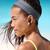 フィットネス · ランナー · 少女 · 音楽を聴く · ビーチ · リスニング - ストックフォト © maridav
