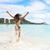 felice · donna · costume · da · bagno · donna · sexy · spiaggia · ragazza - foto d'archivio © maridav