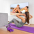 home workout   woman exercising in front of tv stock photo © maridav