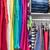organized home clothing closet or shopping display stock photo © maridav