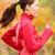 donna · runner · esecuzione · caduta · autunno · foresta - foto d'archivio © maridav