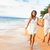 Beach couple on romantic travel honeymoon fun stock photo © Maridav