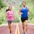 running people   two smiling runners jogging stock photo © maridav