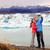 iceland   couple taking selfie by jokulsarlon stock photo © maridav