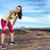 исчерпанный · девушки · фитнес · молодые · женщину - Сток-фото © maridav