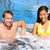 hot tub   couple in spa wellness jacuzzi stock photo © maridav