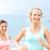 çalışma · insanlar · iki · gülen · İkincisi · jogging - stok fotoğraf © maridav