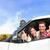 dois · novo · carros · vista · lateral · em · pé · estacionamento - foto stock © maridav