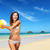 engraçado · menina · jogar · enterrado · areia · da · praia · sorridente - foto stock © maridav