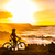 mtb mountain biking cyclist looking at sunset view stock photo © maridav