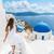 santorini · adası · seyahat · turist · kadın · tatil · yürüyüş - stok fotoğraf © Maridav