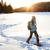 pessoas · caminhadas · neve · trilha · inverno · marcha - foto stock © maridav